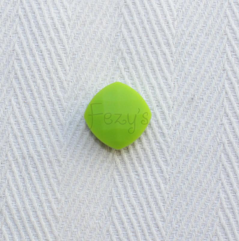 Gefaceteerd vierkant - groen