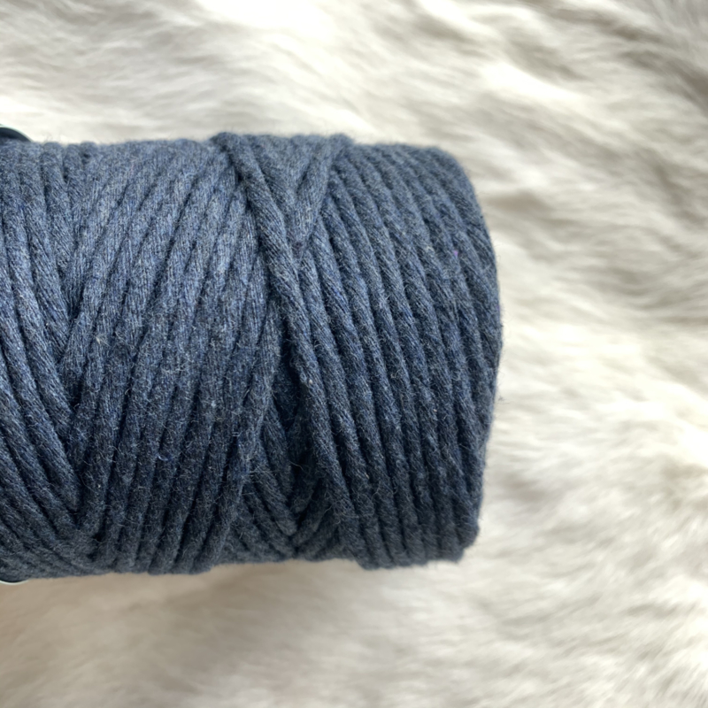 Macramé single twist - dark jeans