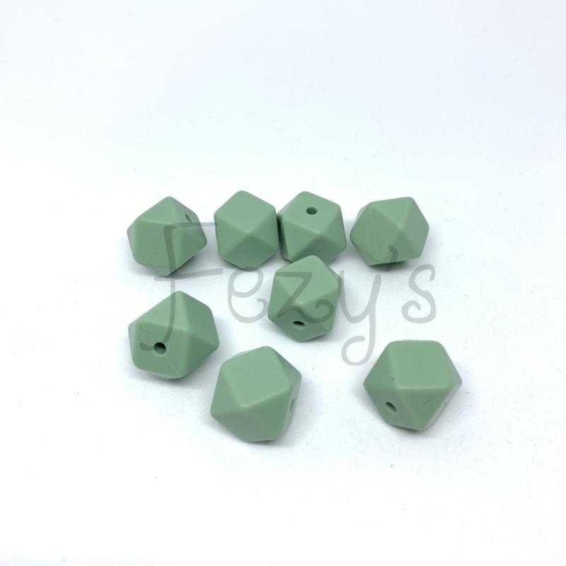 Kleine hexagon - oud groen