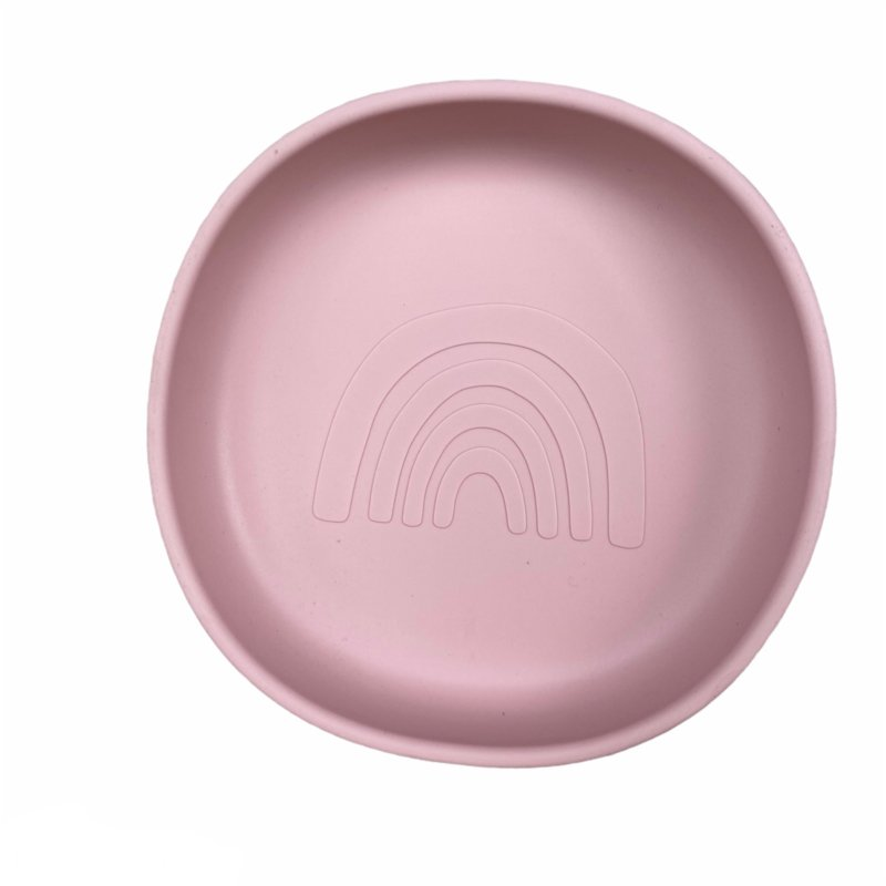 Silicone plate rainbow -  old pink