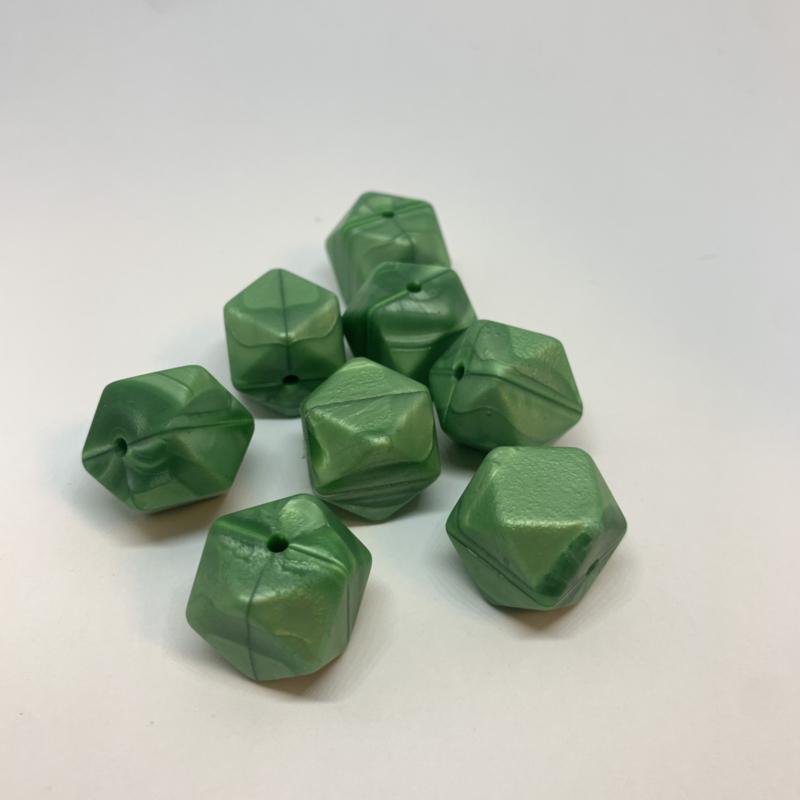 Hexagon - parelmoer groen