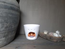 Aroma geurbrander keramiek wit