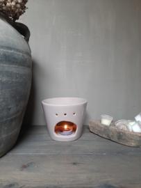 Aroma geurbrander keramiek taupe