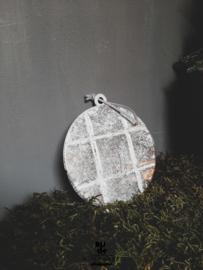 Metalen kerstbalhanger plat
