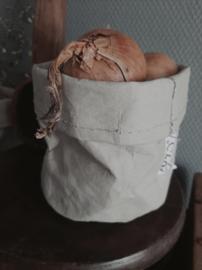 Paper bag plantzak opberg zak sizo landelijk industrieel grijs