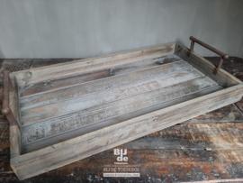 Stoere houten dienblad serveertray