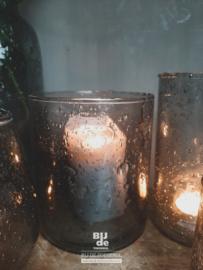 Windlicht steenslag grey 13/15