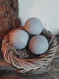 Decoratiebal grijs ø 9 cm