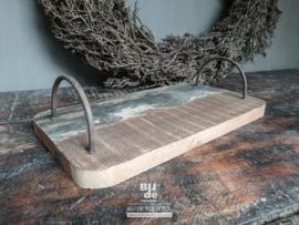 Oude houten serveerplankje