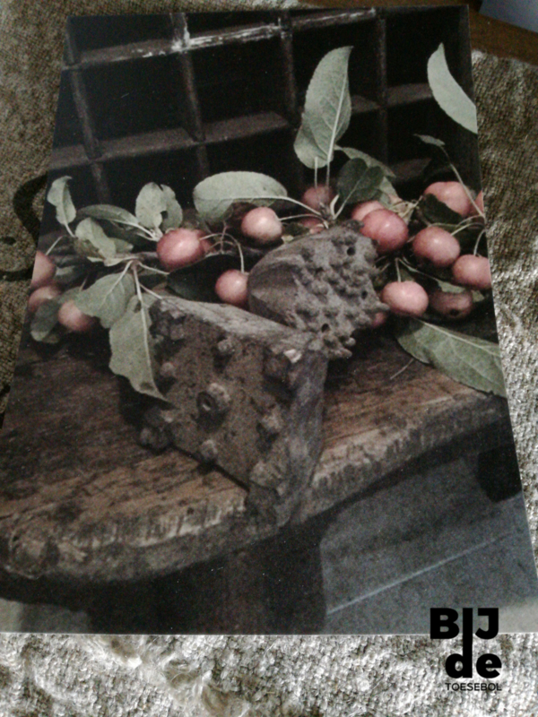 Kaart houten bankje appeltjes