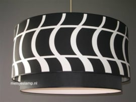 hanglamp retro zwart wit
