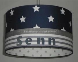 Jongenslamp met naam Senn