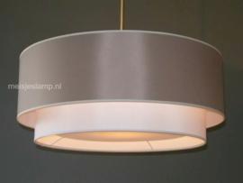 Hanglamp grijs dubbel