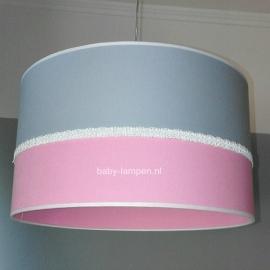 meisjeslamp effen lichtgrijs effen roze