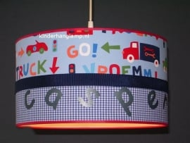 Jongenslamp met naam Casper auto's