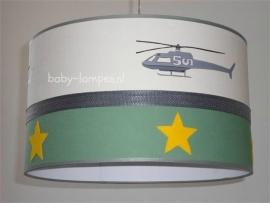jongenslamp helicopter oldgreen gele sterren