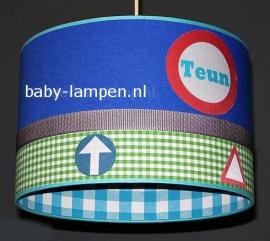 jongenslamp stoer verkeersborden met naam