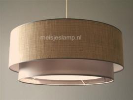 Hanglamp  beige en taupe