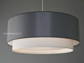 Hanglamp grijs en wit