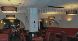 Hanglampen restaurant zwart