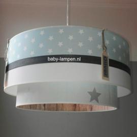 kinderlampen met label naam mintgroen