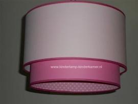 meisjeslamp lichtroze roze witte hartjes