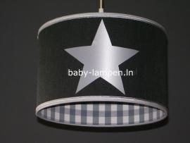 Jongenslamp antraciet 3x zilveren ster