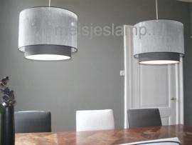 Hanglamp grijs doorschijnend