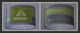 jongenslamp bootje groen met naam