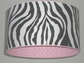 meisjeslamp zebra roze witte stippen