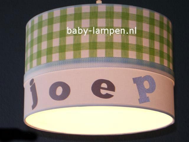 Jongenslamp met naam Joep limegroen