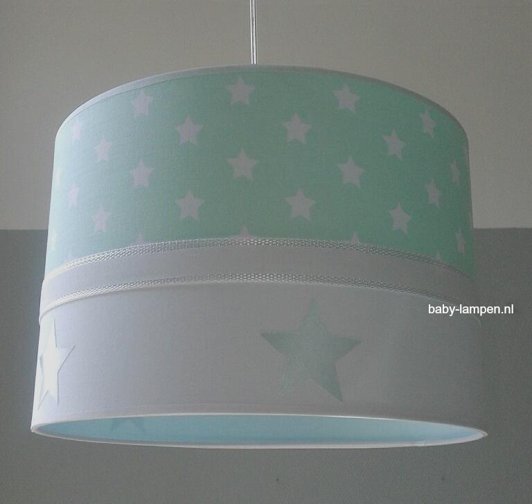 jongenslamp mint groen sterren