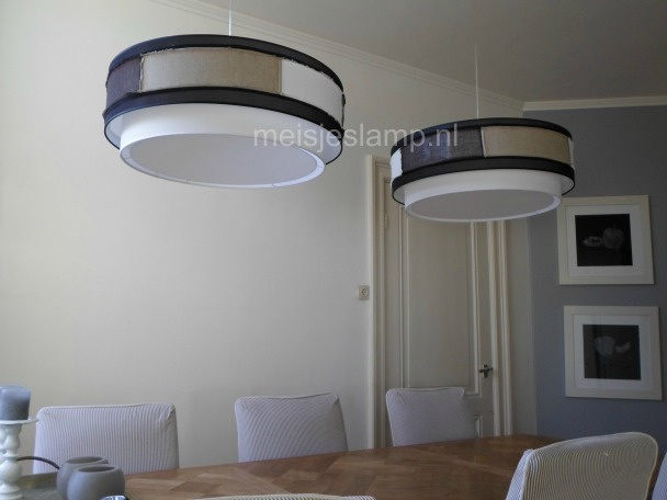 Hanglamp bruin zwart wit