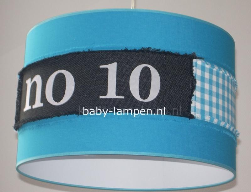 jongenslamp NO 10 blauw zwart