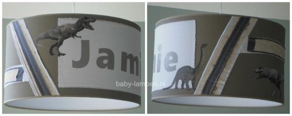 jongenslamp stoer met dinosaurus en naam