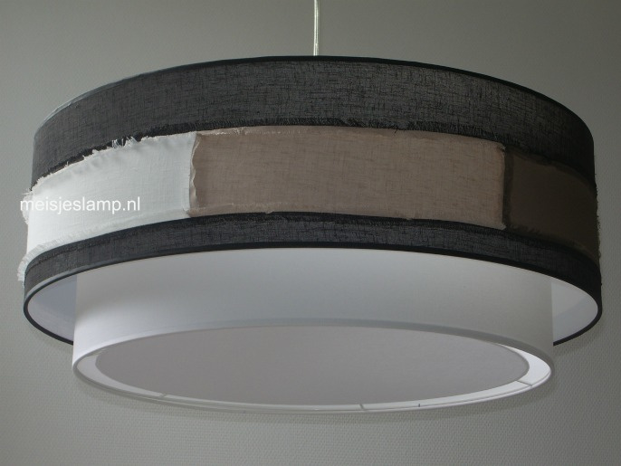 Hanglamp stukjes stof