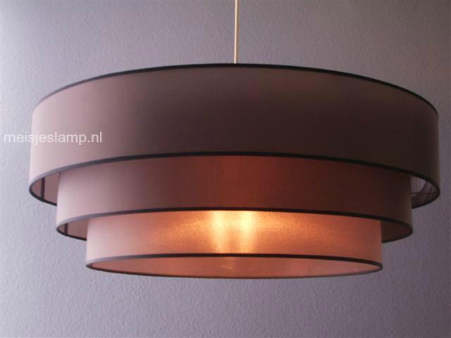 Hanglamp taupe 3x