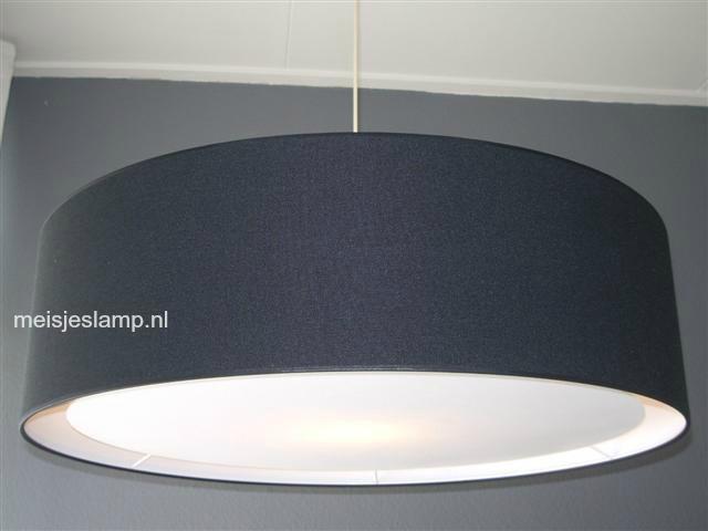 Hanglamp zwart linnen