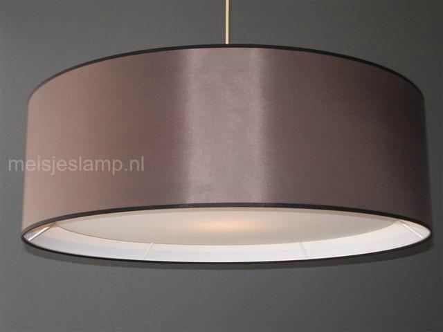 Hanglamp taupe en onderplaat