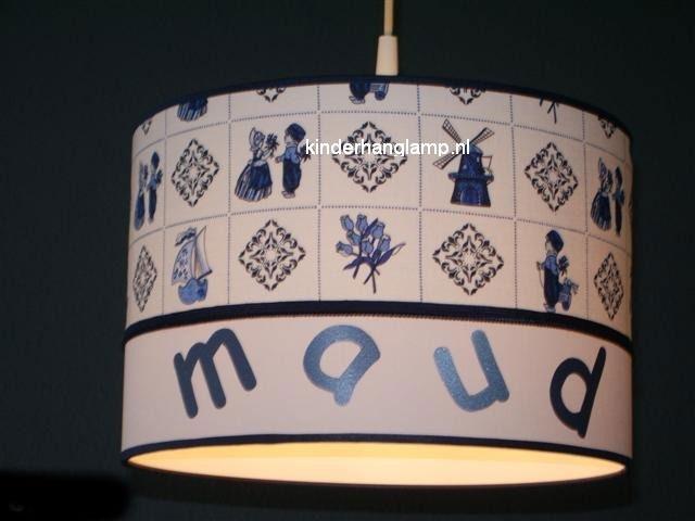 meisjeslamp met naam blauw boerenbond