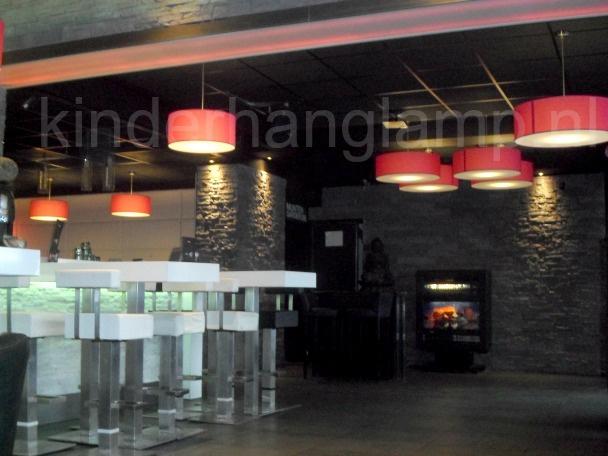 Hanglampen rood met onderplaat