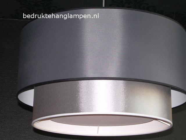 Hanglamp dubbel zilver