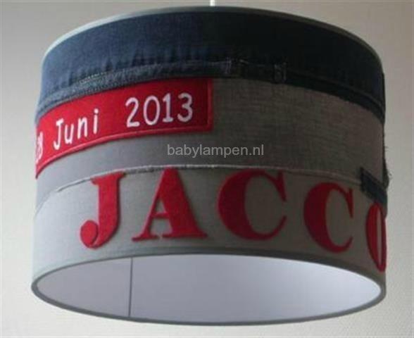 jongenslamp stoer Jacco met datum in jeans en grijs