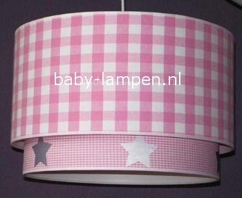 meisjeslamp roze zilver sterren