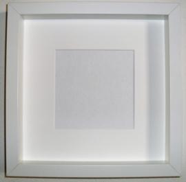 Witte lijst 25x25cm