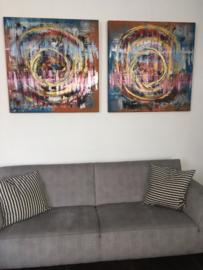 "Schilderijen op doek ""RL l & RL ll"" (set)"