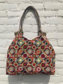 Kleurrijke gobelin handtas