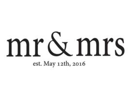 Muursticker Mr. & Mrs.