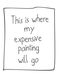 Muursticker Where My Painting Will Go