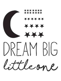 Muursticker Dream Big Little One